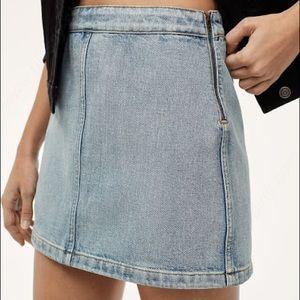 WILFRED FREE   Donyale Denim Mini Skirt